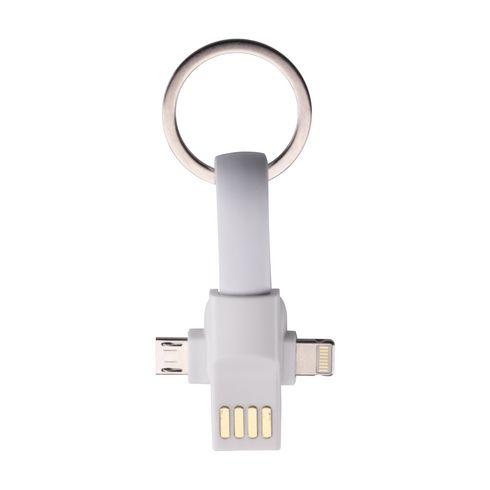 Connection 3-in-1 porte-clés avec câble de chargement