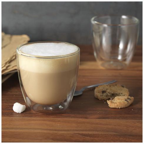 Boda 2 delige koffieset van glas